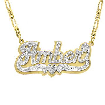 gold name plate necklace